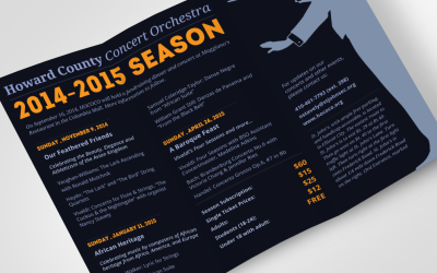 Howard County Concert Orchestra Tri-Fold