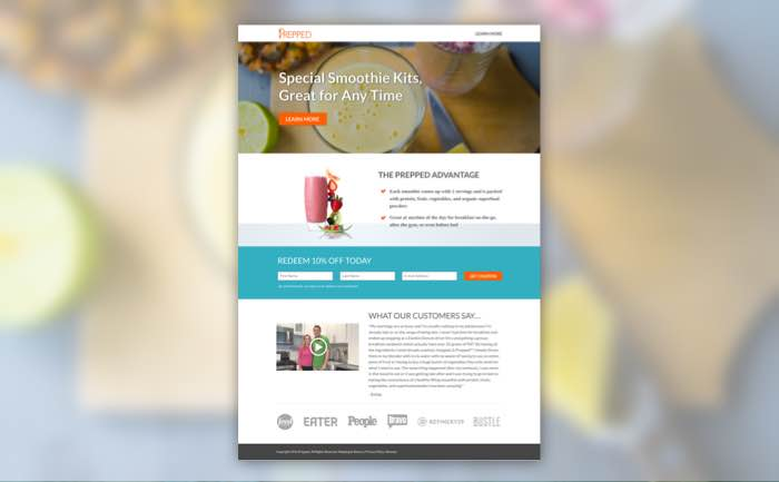 Prepped Delivery Landing Pages